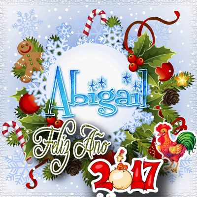 Lindas tarjetas para perfil con tu nombre 2017!!! Abigail