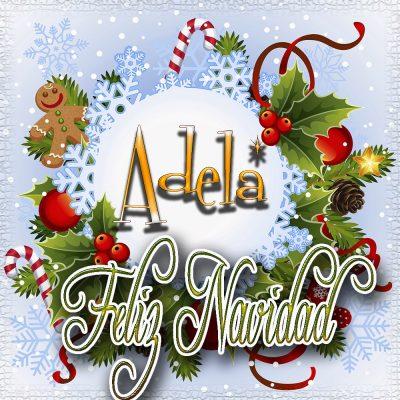 Feliz Navidad, Tarjetas con tu Nombre!!! Adela