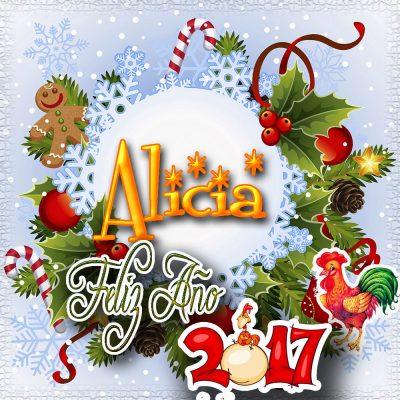 Lindas tarjetas para perfil con tu nombre 2017!!! Alicia