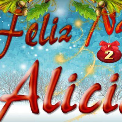 Portadas de Navidad con tu Nombre,Alicia