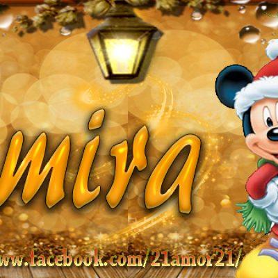 Portadas de Navidad con tu Nombre, de MICKEY, Amira!!!