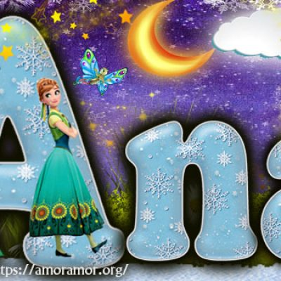 Portadas para tu Facebook con tu nombre de Frozen,Ana