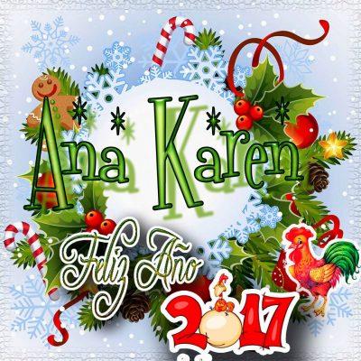 Lindas tarjetas para perfil con tu nombre 2017!!! Ana Karen