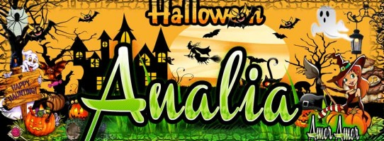 Mi Portada de Halloween para Facebook,Analia
