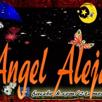 Portadas para tu Facebook con tu nombre, Angel Alejandro