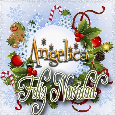 Feliz Navidad, Tarjetas con tu Nombre!!! Angelica
