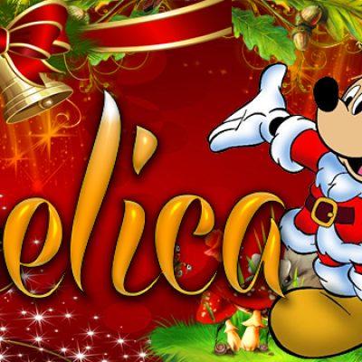 Portadas de Navidad con tu Nombre, de MICKEY, Angelica!!!