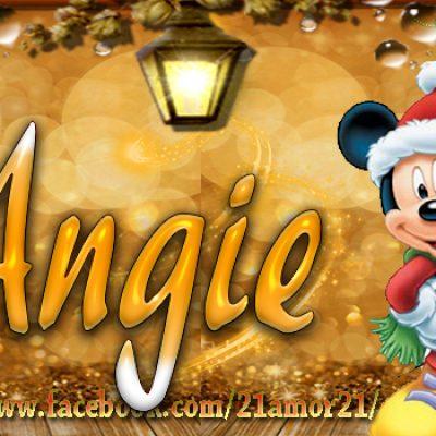Portadas de Navidad con tu Nombre, de MICKEY, Angie!!!