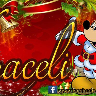 Portadas de Navidad con tu Nombre, de MICKEY,Araceli!!!