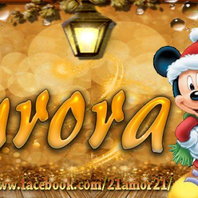 Portadas de Navidad con tu Nombre, de MICKEY, Aurora!!!Aurora