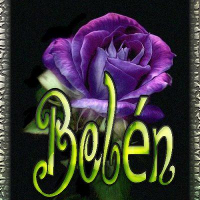 Nombre en Rosas, Belen