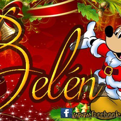 Portadas de Navidad con tu Nombre, de MICKEY,Belén!!!