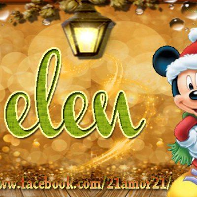 Portadas de Navidad con tu Nombre, de MICKEY,Belen!!!
