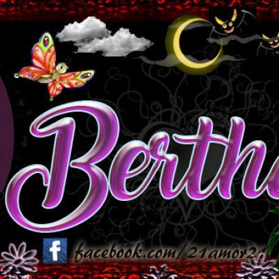 Portadas para tu Facebook con tu nombre, Bertha