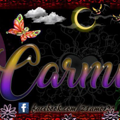 Portadas para tu Facebook con tu nombre, Carmin