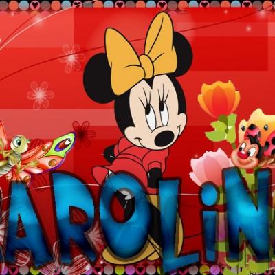 Tu miki mouse con tu Nombre,CAROLINA