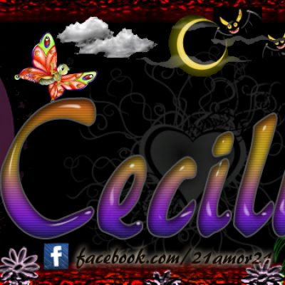 Portadas para tu Facebook con tu nombre, Cecilia