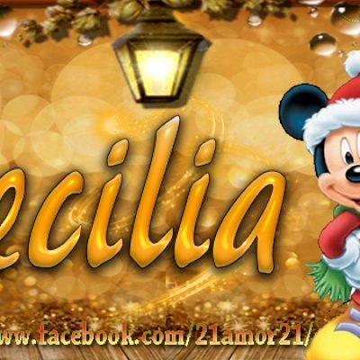Portadas de Navidad con tu Nombre, de MICKEY, Cecilia!!!