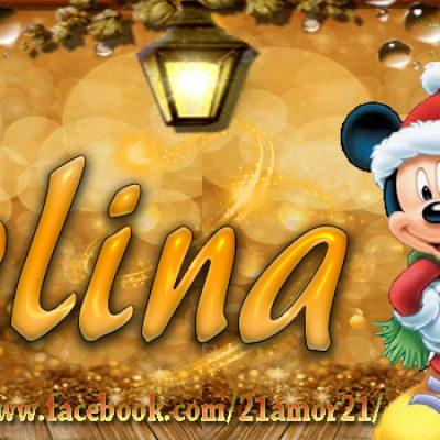Portadas de Navidad con tu Nombre, de MICKEY, Celina!!!