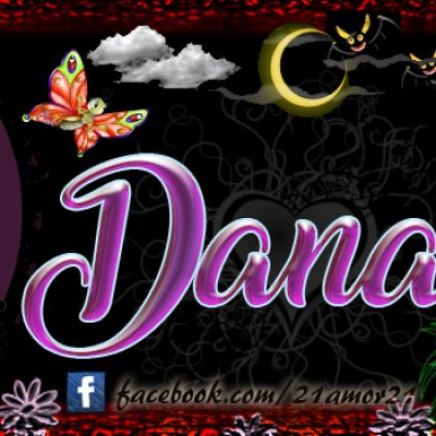 Portadas para tu Facebook con tu nombre, Dana