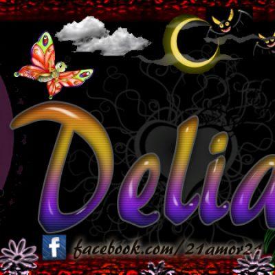 Portadas para tu Facebook con tu nombre, Delia