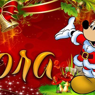 Portadas de Navidad con tu Nombre, de MICKEY, Dora!!!