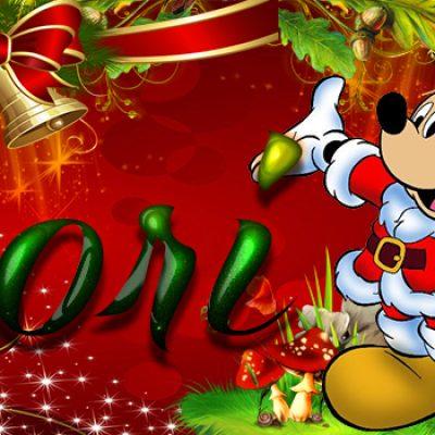 Portadas de Navidad con tu Nombre, de MICKEY, Dori!!!