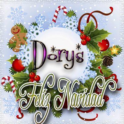 Feliz Navidad, Tarjetas con tu Nombre!!! Dorys