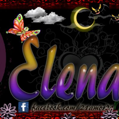 Portadas para tu Facebook con tu nombre,Elena