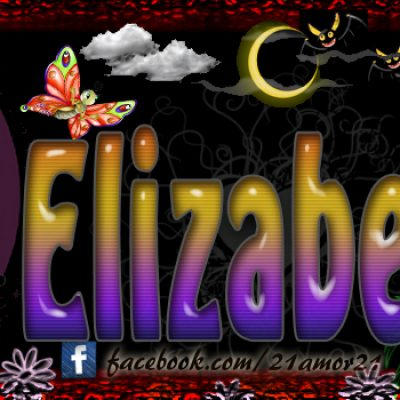 Portadas para tu Facebook con tu nombre, Elizabeth