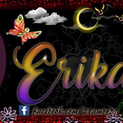 Portadas para tu Facebook con tu nombre, Erika