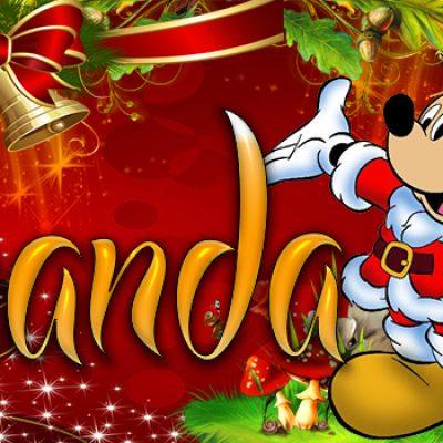 Portadas de Navidad con tu Nombre, de MICKEY, Fernanda!!!