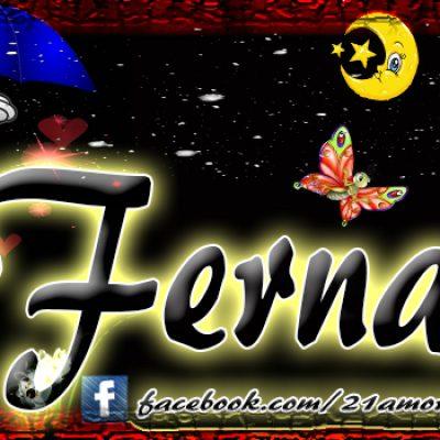 Portadas para tu Facebook con tu nombre, Fernando