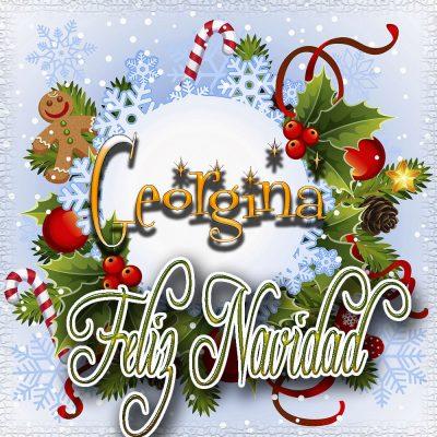 Feliz Navidad, Tarjetas con tu Nombre!!! Georgina