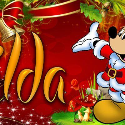 Portadas de Navidad con tu Nombre, de MICKEY, Hilda!!!