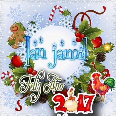 Lindas tarjetas para perfil con tu nombre 2017!!! Ian jamil