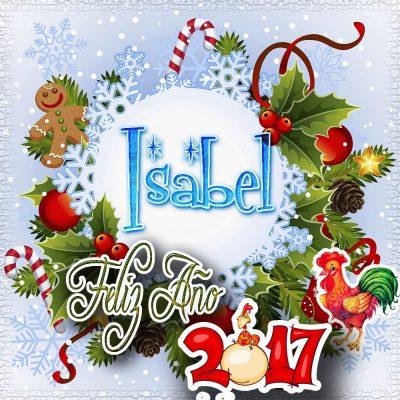 Lindas tarjetas para perfil con tu nombre 2017!!! Isabel