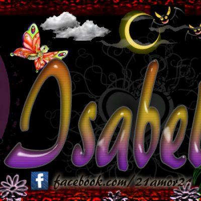Portadas para tu Facebook con tu nombre, Isabel