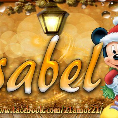 Portadas de Navidad con tu Nombre, de MICKEY, Isabel!!!