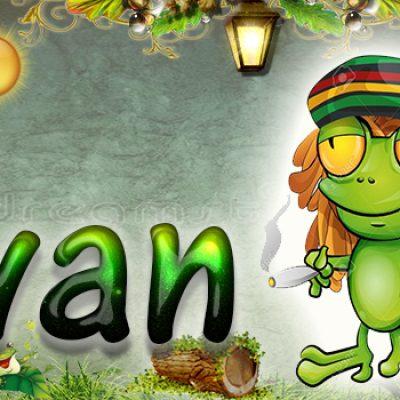 Portadas para tu Facebook de la Rana con tu nombre,Ivan