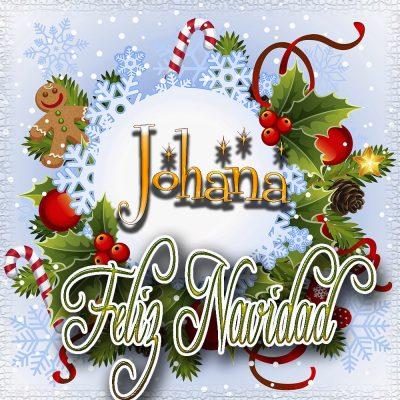 Feliz Navidad, Tarjetas con tu Nombre!!! Johana