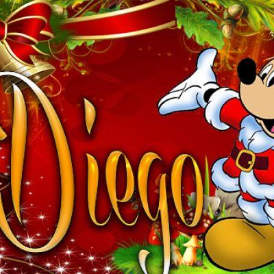 Portadas de Navidad con tu Nombre, de MICKEY, Juan Diego!!!