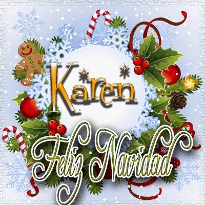 Feliz Navidad, Tarjetas con tu Nombre!!!  Karen