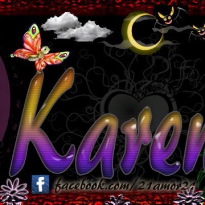 Portadas para tu Facebook con tu nombre, karen