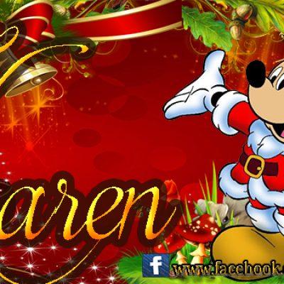 Portadas de Navidad con tu Nombre, de MICKEY,Karen!!!
