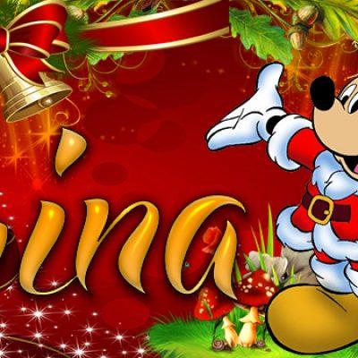 Portadas de Navidad con tu Nombre, de MICKEY, Karina!!!