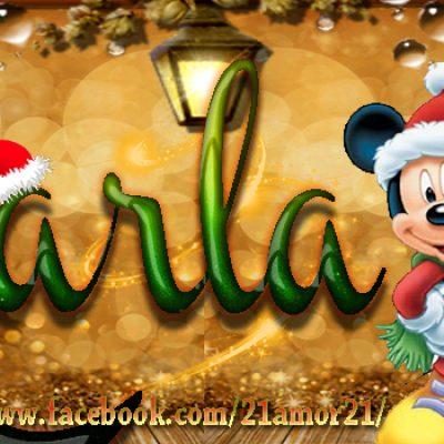 Portadas de Navidad con tu Nombre, de MICKEY, Karla!!!