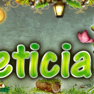 Portadas para tu Facebook de la Rana con tu nombre, Leticia