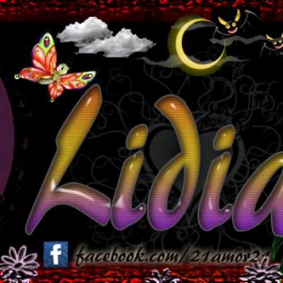 Portadas para tu Facebook con tu nombre, Lidia