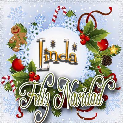 Feliz Navidad, Tarjetas con tu Nombre!!! Linda